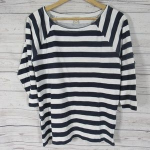 J Crew Shirt Top Womens Medium M Navy White
